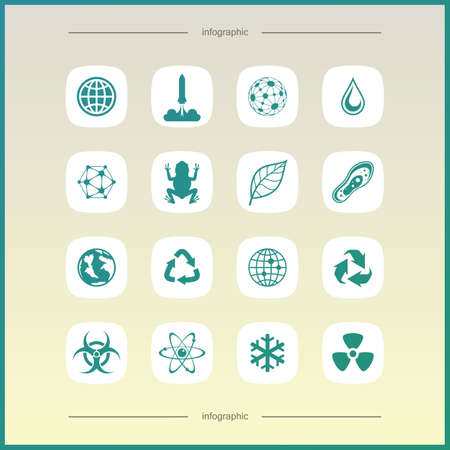 Simple science icons set. Universal science icons to use for web and mobile UI, set of basic UI science elements