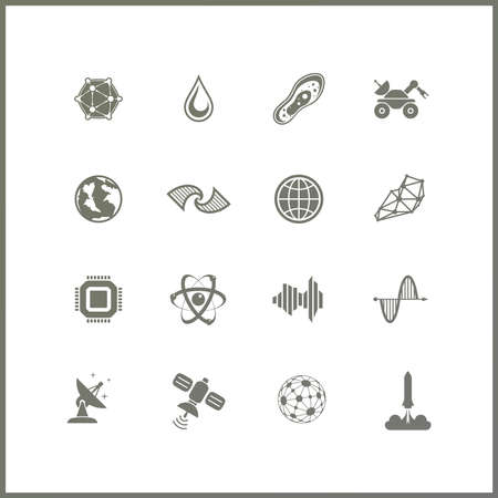moon rover: High quality icon set. Space exploration. Extraterrestrial life Illustration