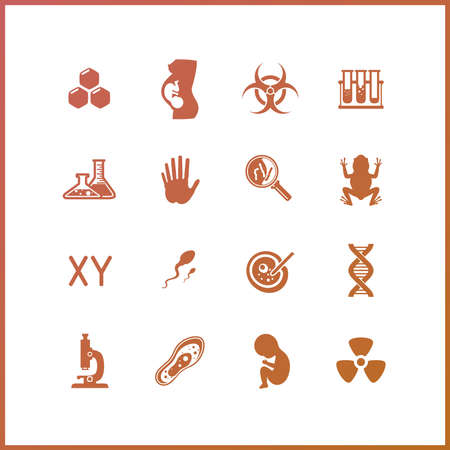 reagent: High quality icon set. Science and research.