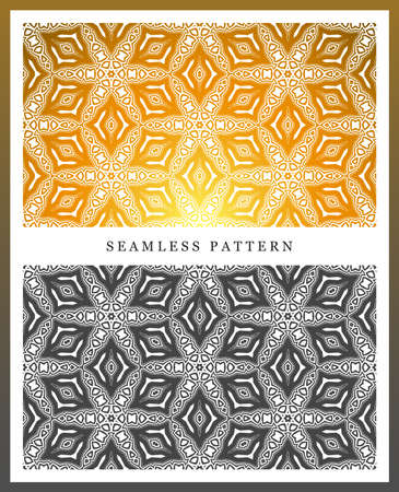 multilevel: Original seamless pattern, high quality. Rhythmic pattern, based on symmetry. Multilevel ornament consisting of large and medium-sized elements, and textures.