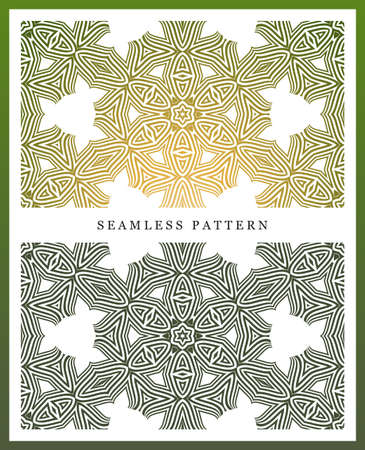 symmetry: Original seamless pattern, high quality. Rhythmic pattern, based on symmetry. Multilevel ornament consisting of large and medium-sized elements, and textures.