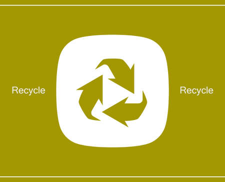 Recycle symbol or sign of conservation icon symbol on the packaging. Illustration