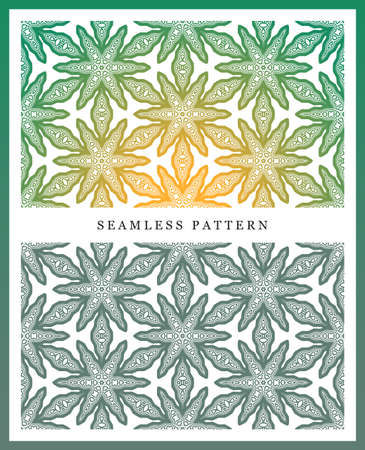 sized: Original seamless pattern, high quality. Rhythmic pattern, based on symmetry. Multilevel ornament consisting of large and medium-sized elements, and textures.