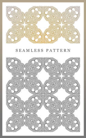 Original seamless pattern, high quality. Rhythmic pattern, based on symmetry. Multilevel ornament consisting of large and medium-sized elements, and textures.
