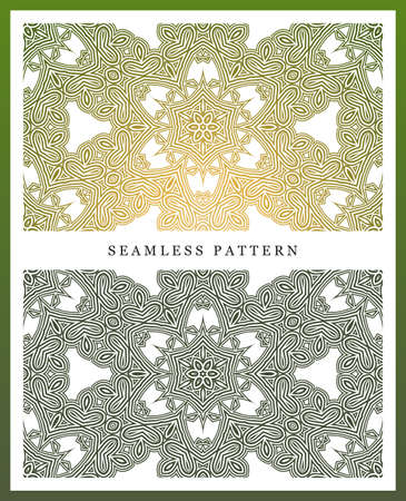iterative: Original seamless pattern, high quality. Rhythmic pattern, based on symmetry. Multilevel ornament consisting of large and medium-sized elements, and textures.