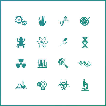 semen: Modern icons set of biochemistry research, biology laboratory experiment. Premium quality symbol collection concept, web graphics