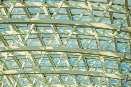 Huge arched roof steel and glass design for more light from sunshine