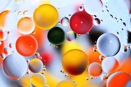background, multicolored balls, blur, texture, heterogeneous color