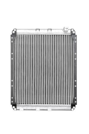 Car radiator on a white background isolate close-up