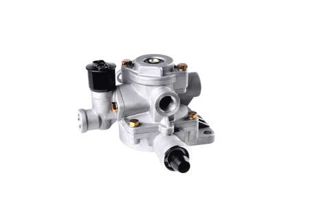 car air distributor, truck pneumatic system air distributor, car parts, car pneumatic system repair, auto pneumatic system parts, close-up white background