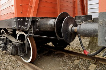 coupling: coupling of wagons on the railway locomotive creates.