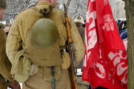 infantryman: Soviet military uniform infantryman of the Second World war. Stock Photo
