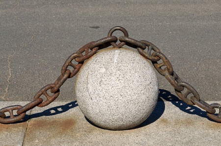 light chains: Ball of stone and on top is an iron chain.