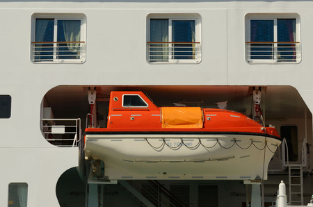 emergency case: Rescue Boat on the ship in case of emergency situations.