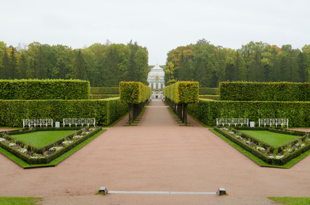 The natural landscape of the Park is geometrically regular shape.