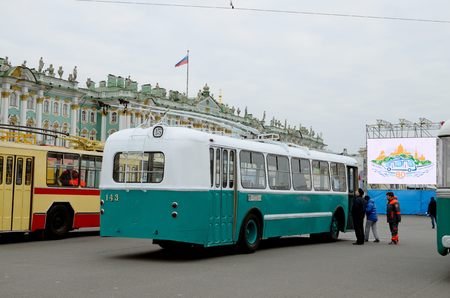 80th: 23.10.2016.Russia.Saint-Petersburg.23 October took place the celebration in honor of the 80th anniversary of the beginning of the trolleybus traffic in the city