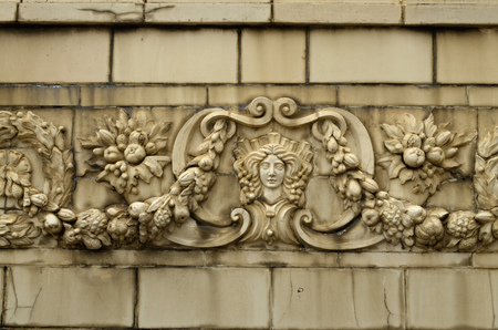 beautify: The bas-reliefs on the walls of the streets,beautify the town.