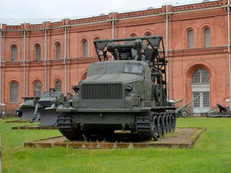29.10.2016.Russia.Saint-Petersburg.The Museum features equipment and artillery of different times.