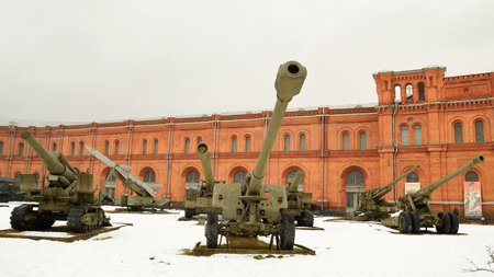 exhibiting: 19.11.2016.Russia.Saint-Petersburg.The Museum features equipment and artillery of different times.