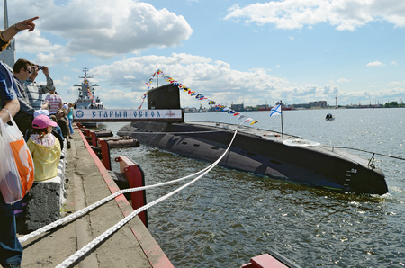 05.07.2015.Russia.Saint-Petersburg.On this day in the city passed the screening warships.