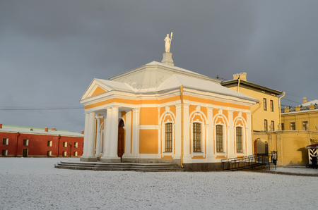 historically: 02.01.2017.Russia.Saint-Petersburg.Peter and Paul fortress is a historically unique protective structure.Now it is a big Museum.