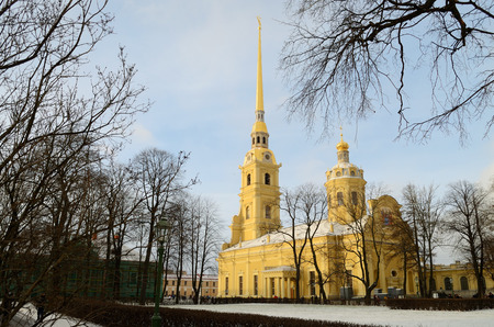 02.01.2017.Russia.Saint-Petersburg.Peter and Paul fortress is a historically unique protective structure.Now it is a big Museum.