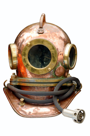Metal helmet of the diver.Protects the head of the diver.