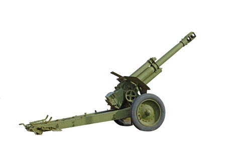 khaki: Cannon has great destructive power.Used during the war.