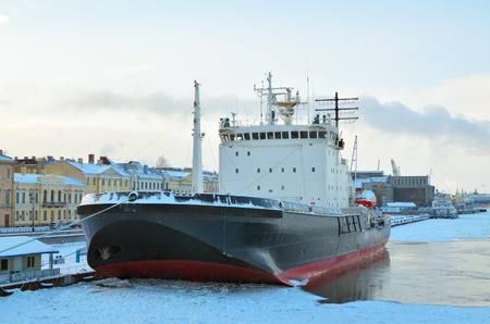 he: A great icebreaker is moored.Soon he will sail the Arctic ocean. Editorial