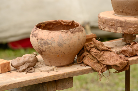 Artisan pottery made utensils for food from clay.