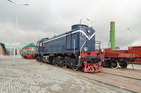 Saint-Petersburg.Russia.11.22.2017. Museum of railway transport.It is located near the Baltic station.The main part of the Museum is the large exhibits - locomotives, trains and wagons.