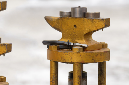 Machine for forging works.A necessary tool in the work of a blacksmith. Stock Photo