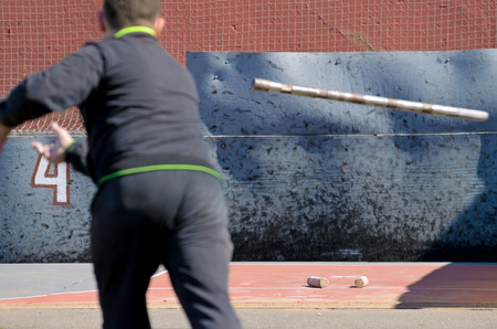 Gorodki - a Russian folk sports game. In this game you need specific distances to smash figures made in different ways from five wooden cylinders.
