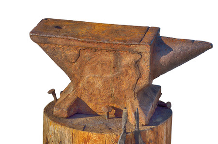 The anvil is a blacksmiths tool.Designed for steel forging.