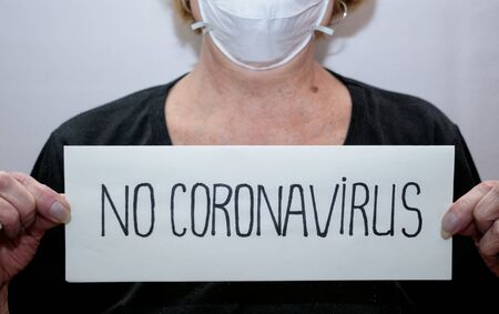 Remedies for coronavirus Covid-19.This is a mask on the face and gloves on the hands.