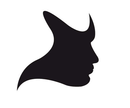 Silhouette of a human face, the mask Vector