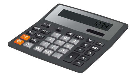 hexadecimal: calculator on a white background with buttons and numbers