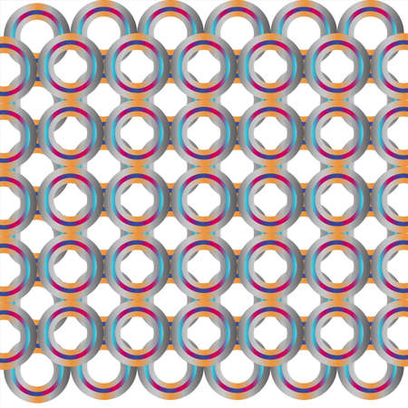 plexus: plexus rings with the rear and front multicolored background