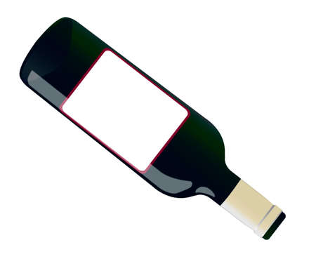 bourbon whisky: bottle of wine isolated on a white background with a shade