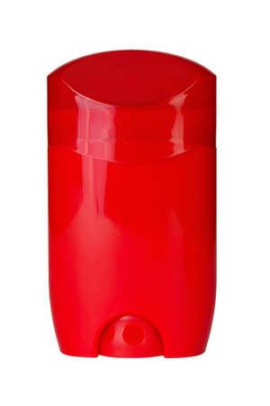 red tube: tubo rojo desodorante aislado en fondo blanco.