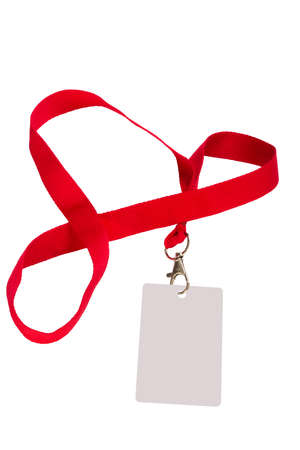 Pass isolated on a white background with a red ribbon 版權商用圖片