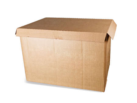 Box for documents, paper, isolated on a white background with a shadow. 版權商用圖片