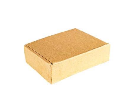 Cardboard box for sending, isolated against a white background. 版權商用圖片