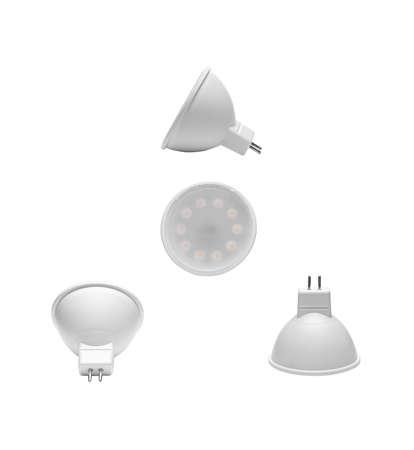 Led light bulb, Isolated on white background.