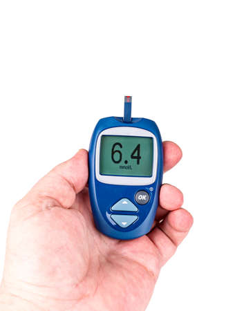 Glucometer with numbers,