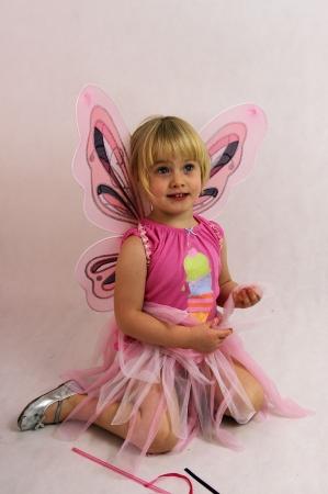 butterfly- little girl Zdjęcie Seryjne