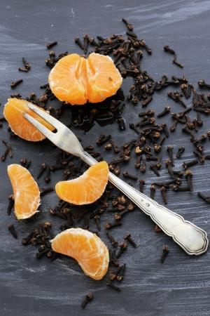 orange pieces with cloves - Christmas fragrances