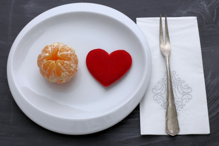 orange with heart - diet for the heart