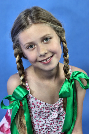 blond girl with braids
