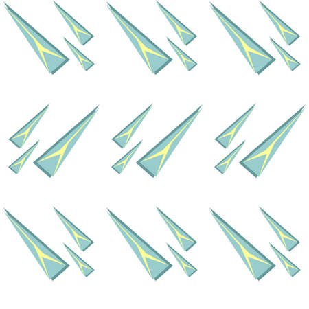 Vector seamless pattern of triangles of different sizes. Illustration depicting triangular pieces of ice or icicles. Abstraction on a winter theme Vettoriali